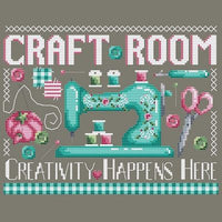 Craft Room Cross Stitch Pattern