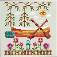 Happy Canoe Cross Stitch Pattern