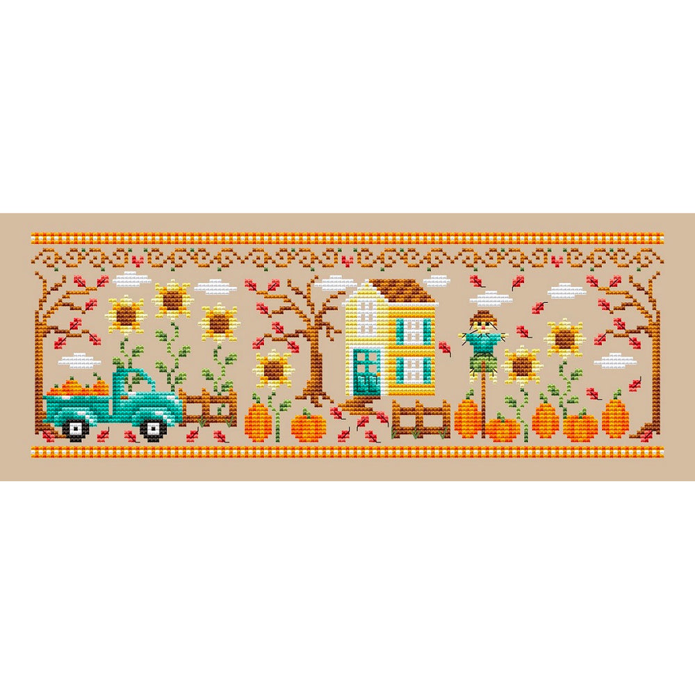 Pumpkin Patch Cross Stitch Pattern