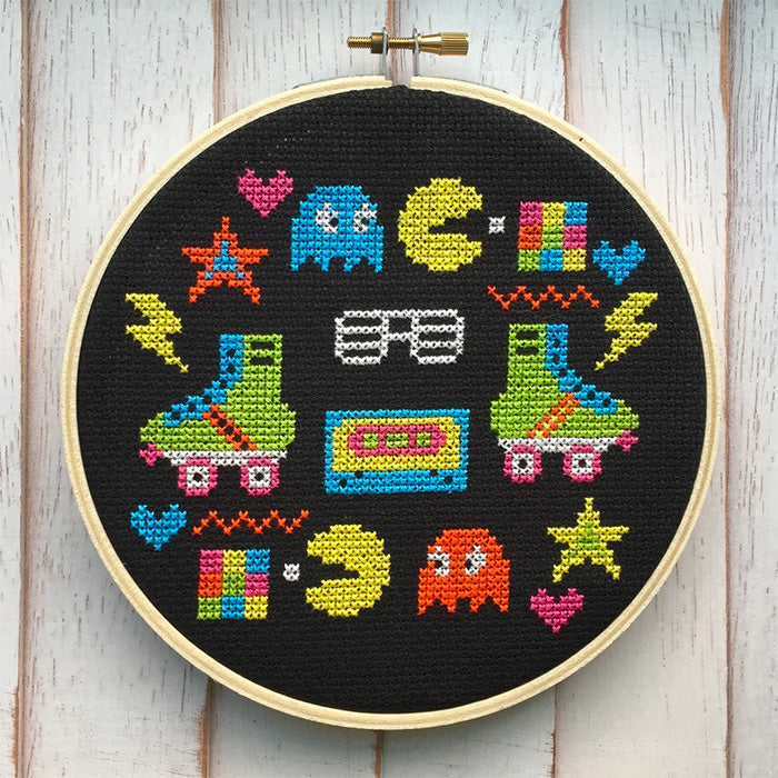80's Sampler Cross Stitch Kit