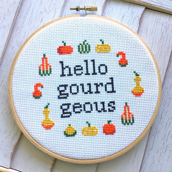 Hello Gourdgeous Cross Stitch Kit