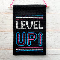 Level Up Mini Cross Stitch Banner Kit