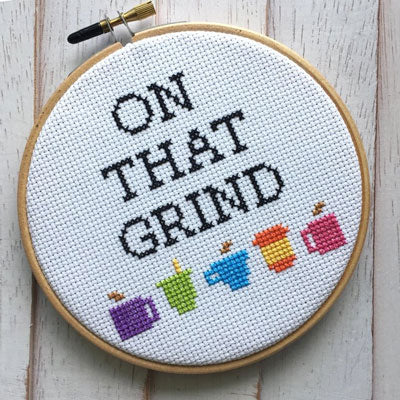 On That Grind Cross Stitch Kit