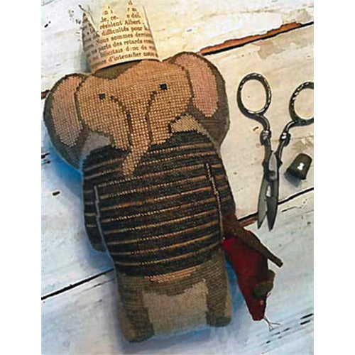 Cross Stitch Stuffed Elephant Doll - Humphrey (20% OFF)