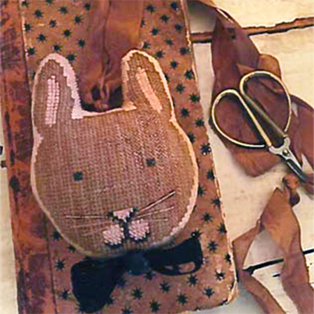 Cross Stitch Stuffed Bunny Fob - Jack (20% OFF)