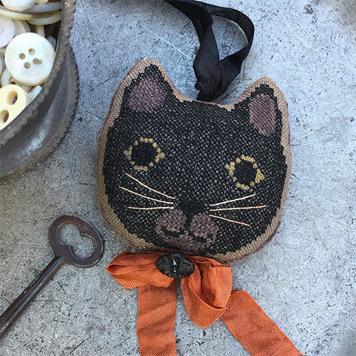 Cross Stitch Stuffed Kitten Fob - Oliver