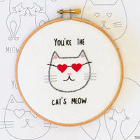 Cats in Love Hand Embroidery Iron-on Pattern