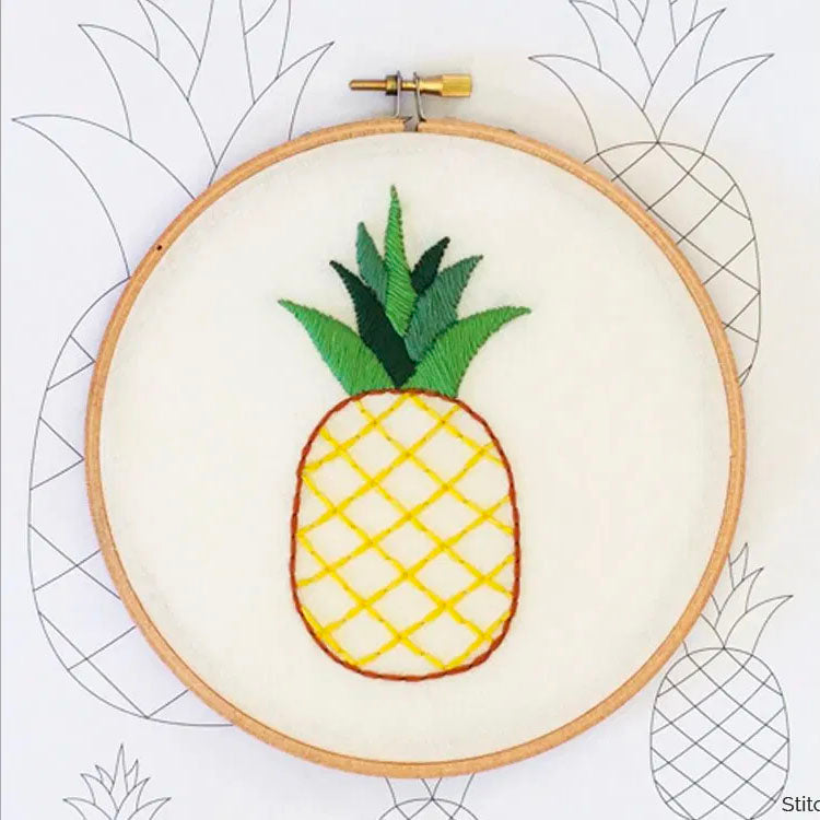 Pineapple Hand Embroidery Iron-on Pattern