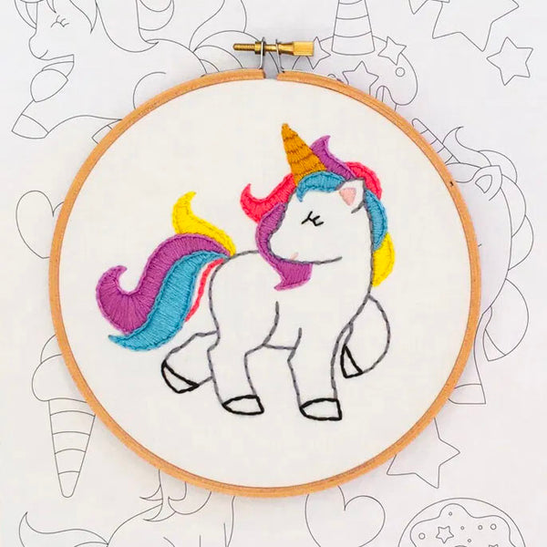 Unicorn Hand Embroidery Iron-on Pattern