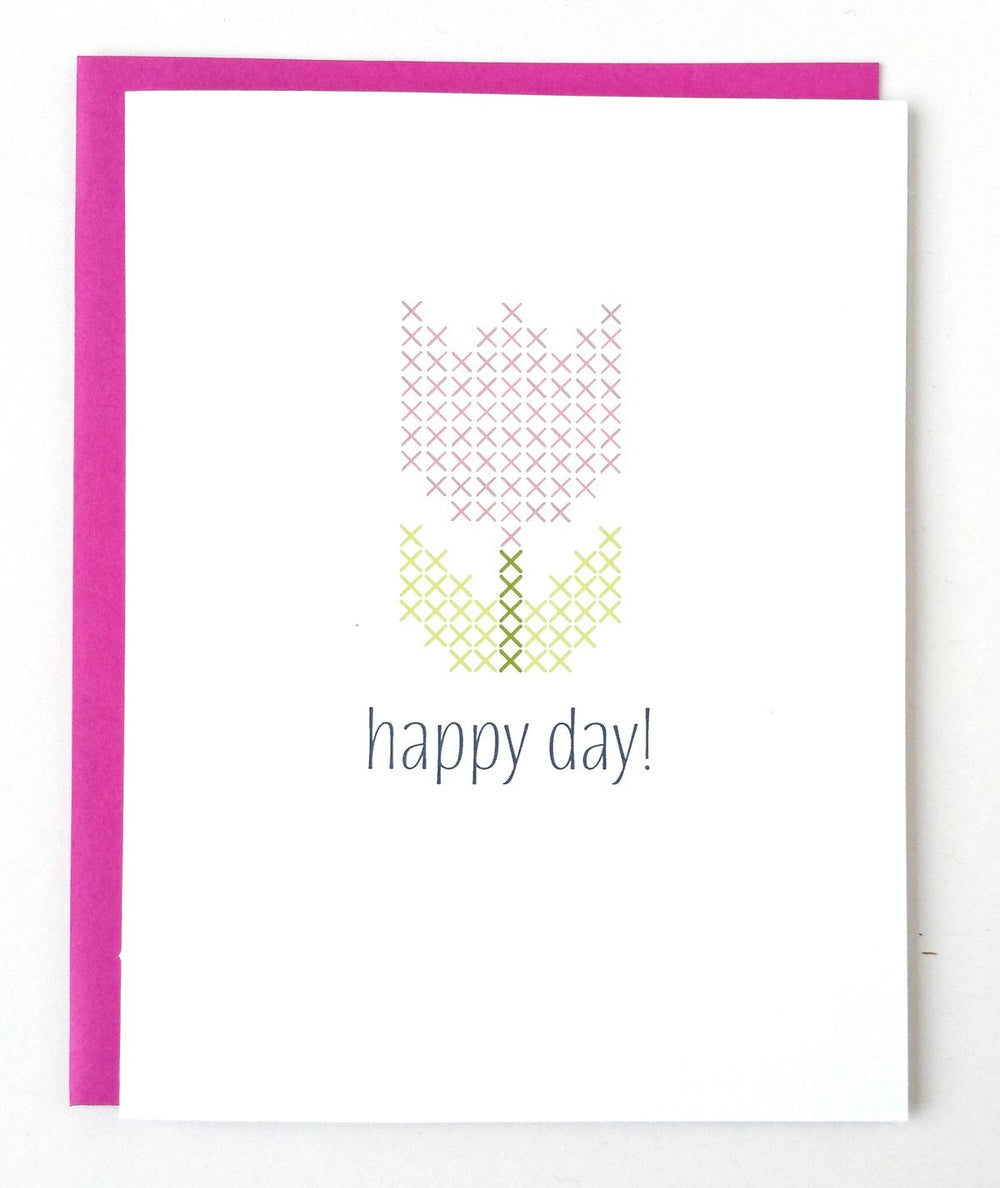 Happy Day Stitchable Greeting Card