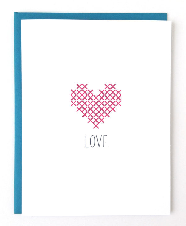 Love Stitchable Greeting Card