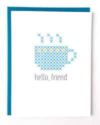 Hello Friend Stitchable Greeting Card
