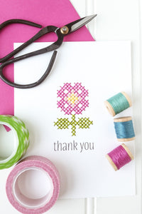 Thank You Stitchable Greeting Card