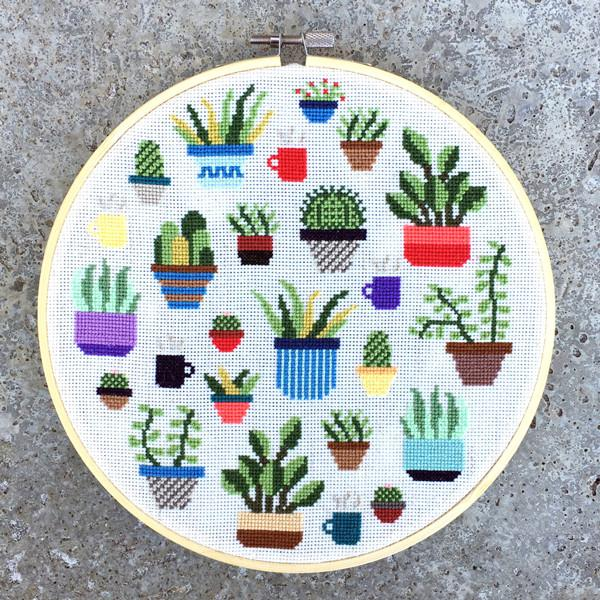 Botany Cross Stitch Pattern