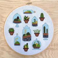 Terrarium Cross Stitch Pattern