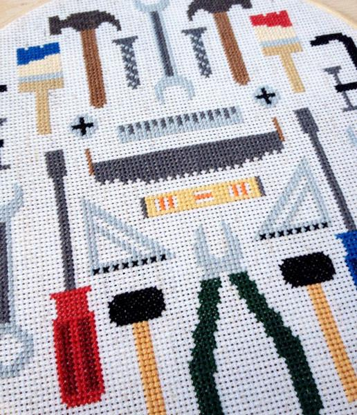Tools Cross Stitch Pattern