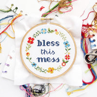 Bless This Mess Cross Stitch Kit