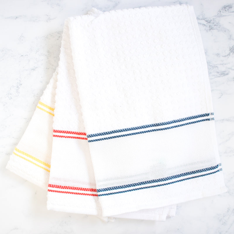 Double Stripe Kitchen Towel with Aida Band