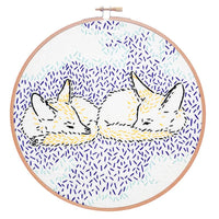 Dreaming Foxes Hand Embroidery Kit