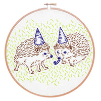 Hedgehog Party Hand Embroidery Kit