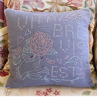 Pillow Cover Hand Embroidery Kit - Vita Brevis Est