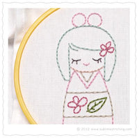 Sublime Stitching Hand Embroidery Iron-on Transfer Pattern - Kokeshi Dolls