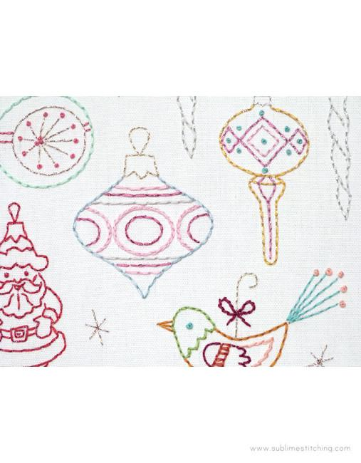 Sublime Stitching Hand Embroidery Iron-on Transfer Pattern - Vintage Ornaments