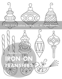Sublime Stitching Embroidery Transfer Pattern - Vintage Ornaments