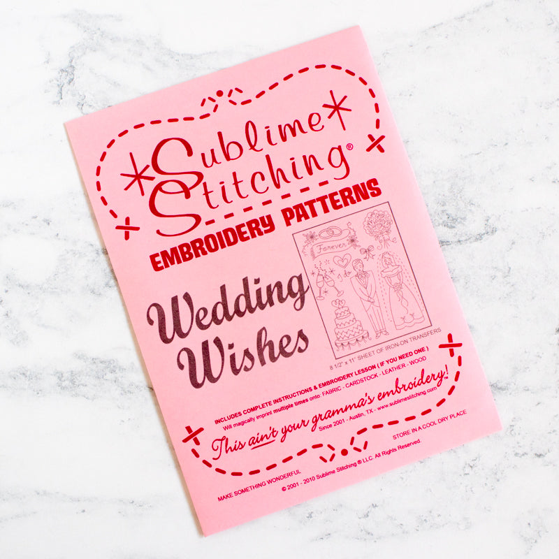 Sublime Stitching Embroidery Transfer Pattern - Wedding Wishes