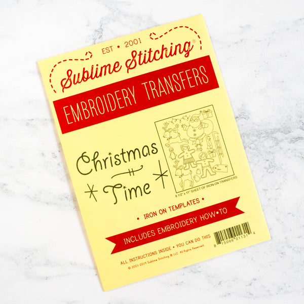 Sublime Stitching Hand Embroidery Transfer Pattern - Christmas Time
