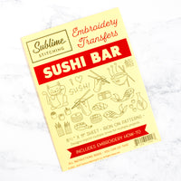 Sublime Stitching Hand Embroidery Iron-on Transfer Pattern - Sushi Bar