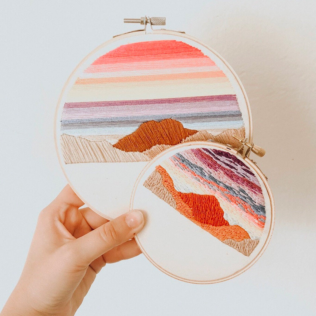 Retro Sunset Hand Embroidery Kit