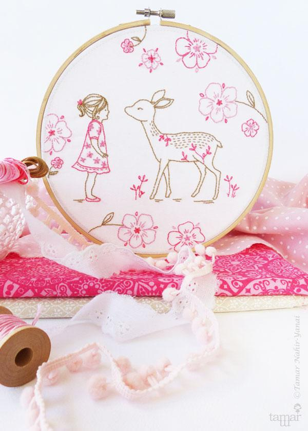 Bambi Girl Hand Embroidery Kit