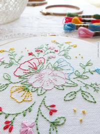 Bouquet of Flowers Hand Embroidery Kit