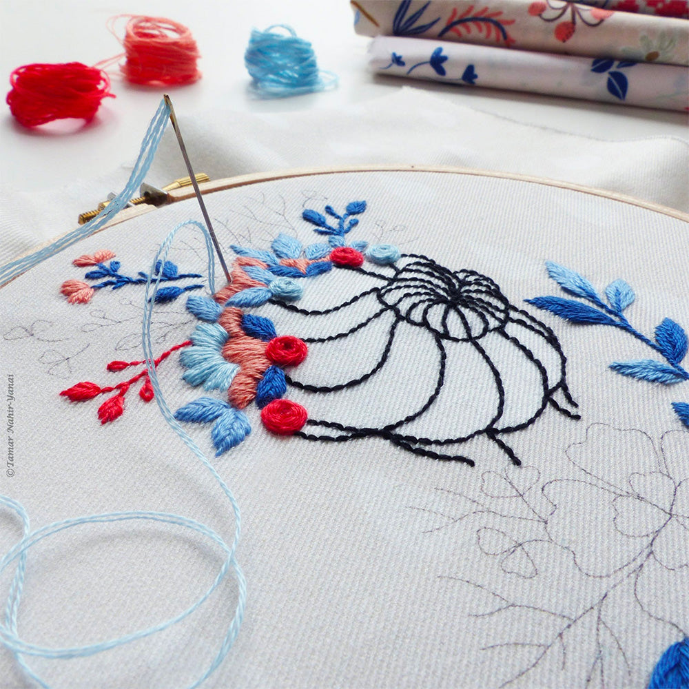 Flower Crown Hand Embroidery Kit