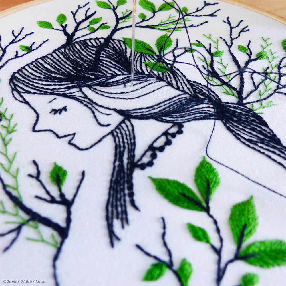 Forest Girl Hand Embroidery Kit
