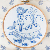 Girl and a Whale Hand Embroidery Kit