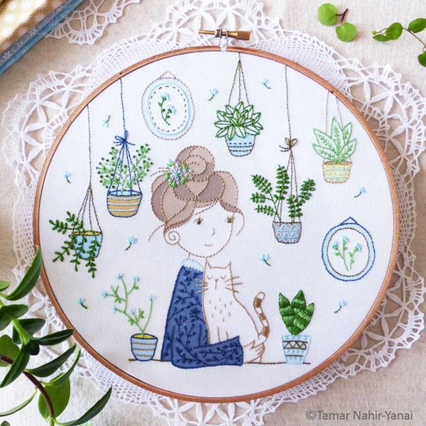 Hair Bun Girl Hand Embroidery Kit