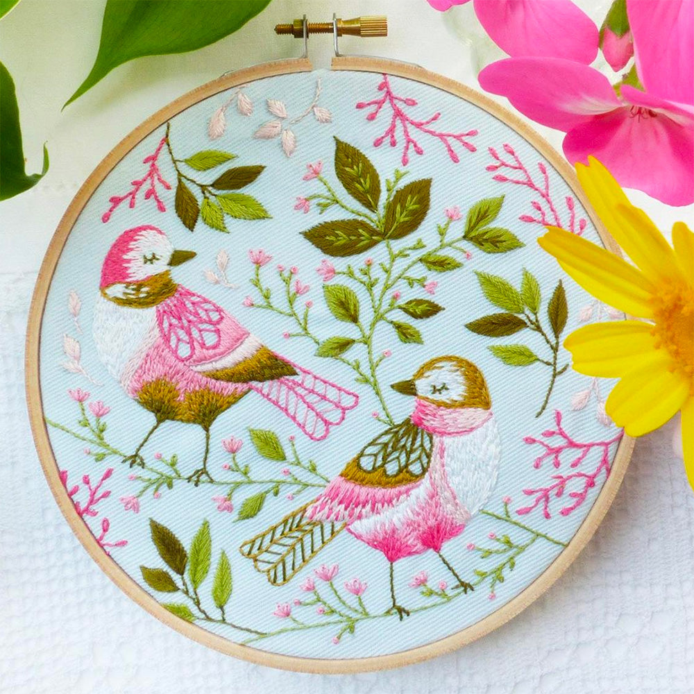 Lovebirds Hand Embroidery Kit