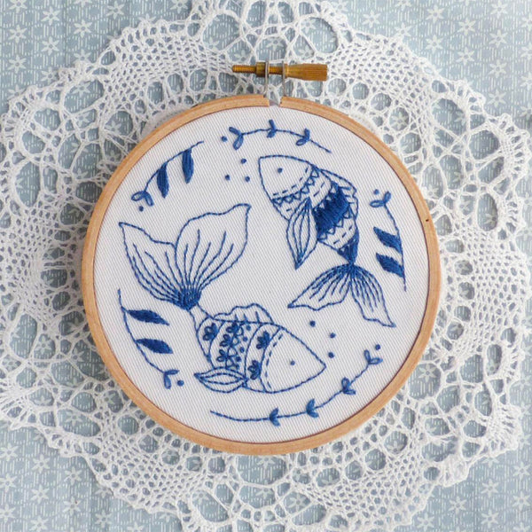 Ocean Fish Mini Hoop Hand Embroidery Kit