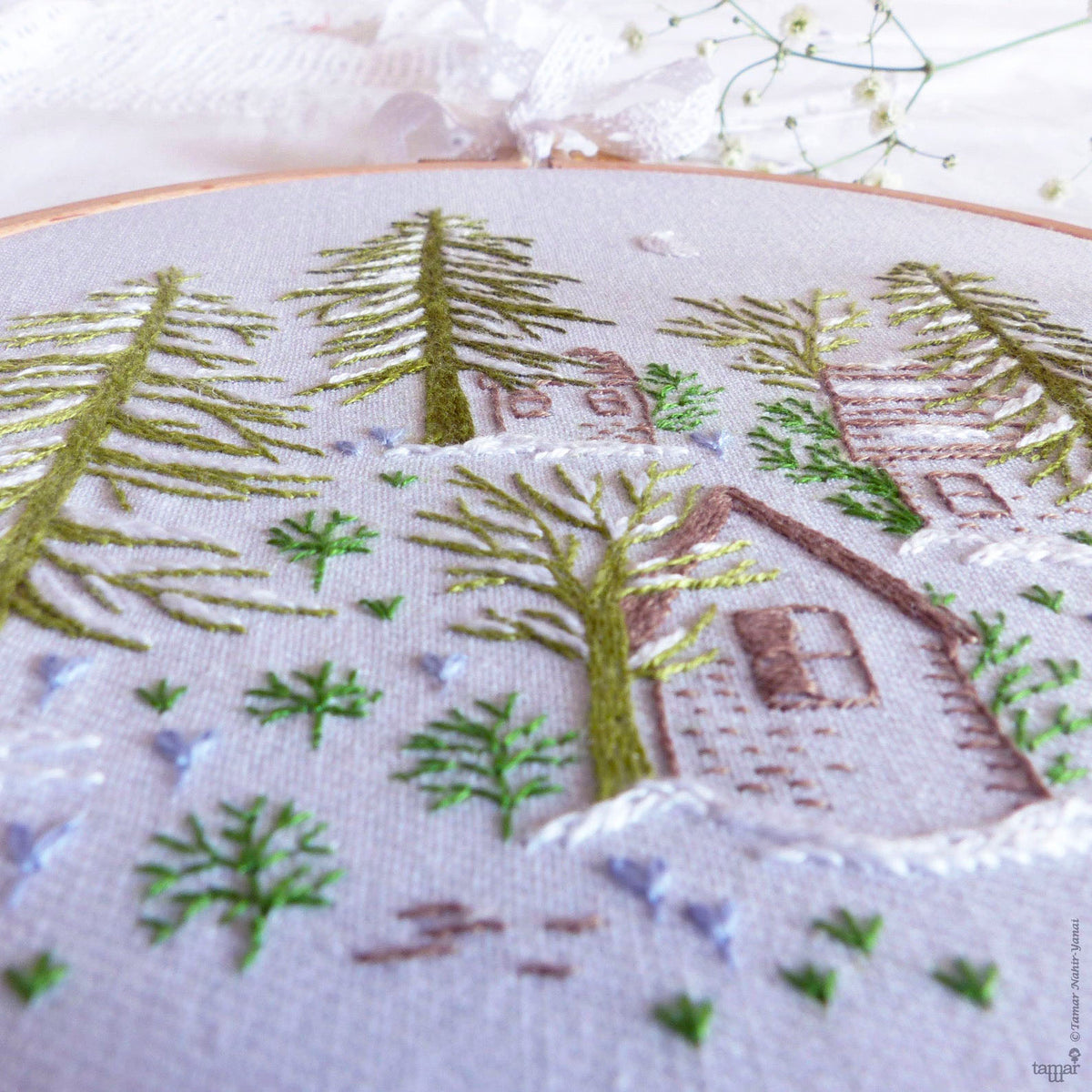 Snowy Night Hand Embroidery Kit