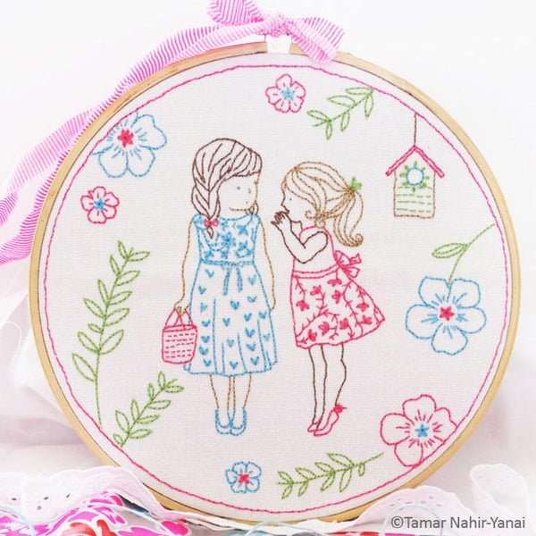 Two Girls and a Secret Hand Embroidery Kit
