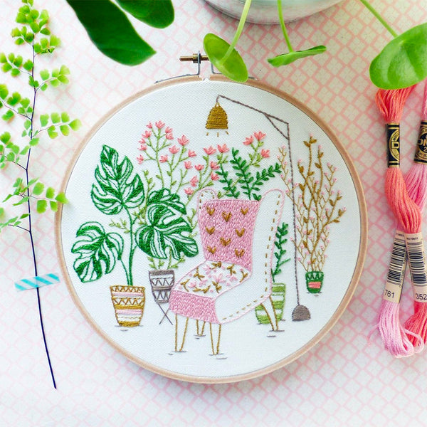 Urban Jungle Hand Embroidery Kit