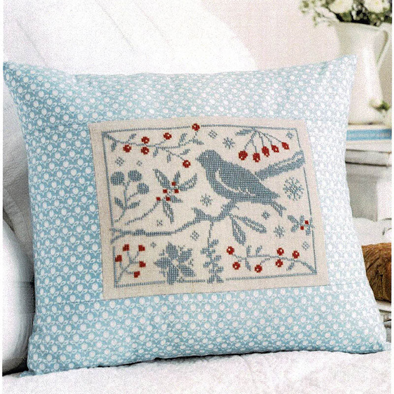 Birds and Berries Cross Stitch Pattern
