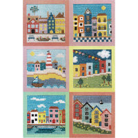 Rainbow Houses Cross Stitch Pattern