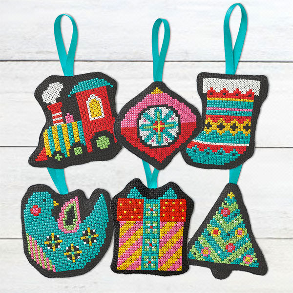 Retro Ornaments Cross Stitch Pattern