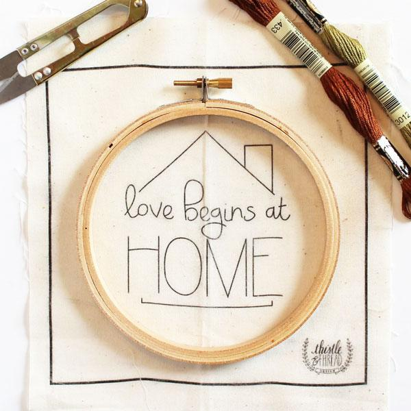 Love Begins at Home Hand Embroidery Kit (20% OFF)