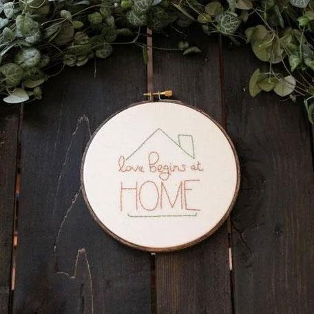 Love Begins at Home Hand Embroidery Kit