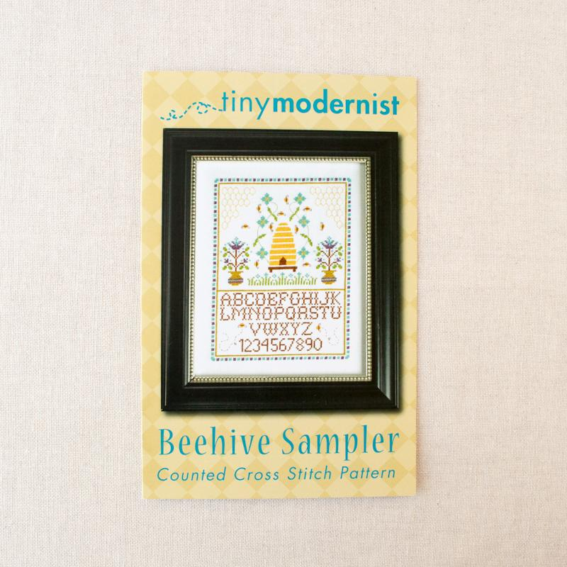 Beehive Sampler Cross Stitch Pattern