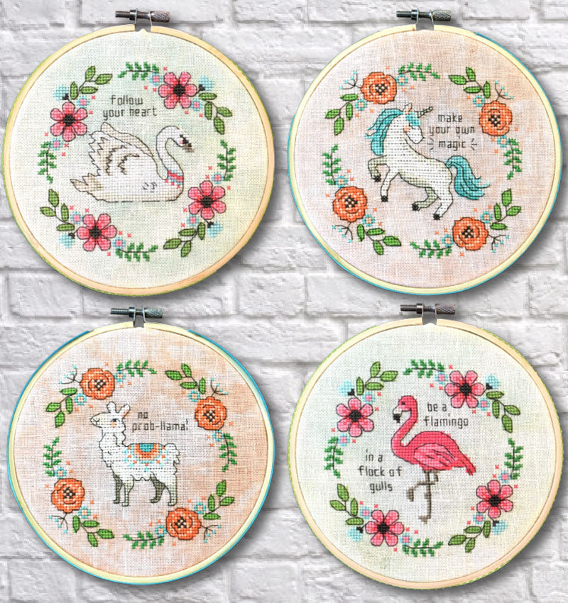 Be a Flamingo Counted Cross Stitch Kit - Limited Edition